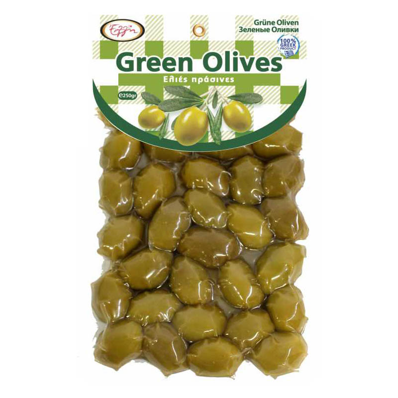 Green Olvies in Olive Oil