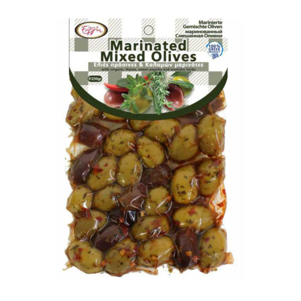 Marinated Mixed Olives 250gr