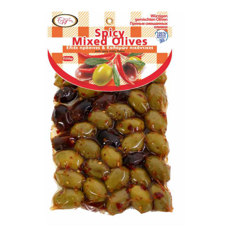 Spicy Mixed Olives 250gr